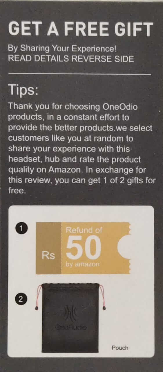 Gift card - Oneodio Pro 10