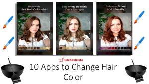 App to change hair color