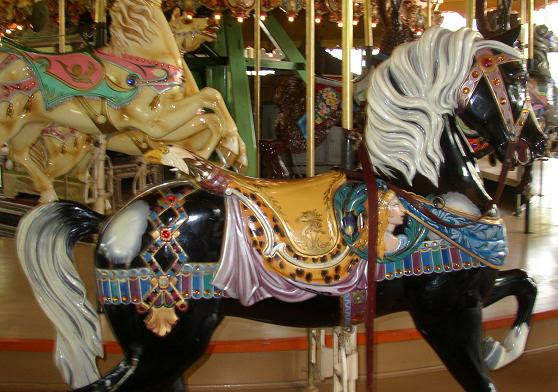 The Enchanted Carousel Horses