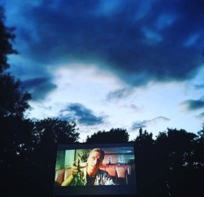 Pulp Fiction under beautiful Cambridge skies at Enchanted Cinema