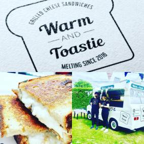 Warm and Toastie Food serving their delicious toasties this evening
