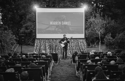 Warren Daniel back playing before Moonlight at Enchanted Cinema