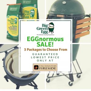 Big Green EGG promotion at Enchanted Fireside