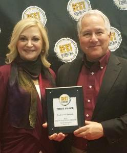 Karen and Rocco owners of Enchanted Fireside voted best fireplace and stove shop in Worcester 2018