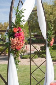 Enchanted Florist Las Vegas Rose and Orchid Love Arch 4