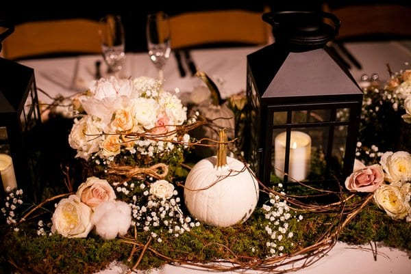Enchanted florist white fall wedding at belle meade