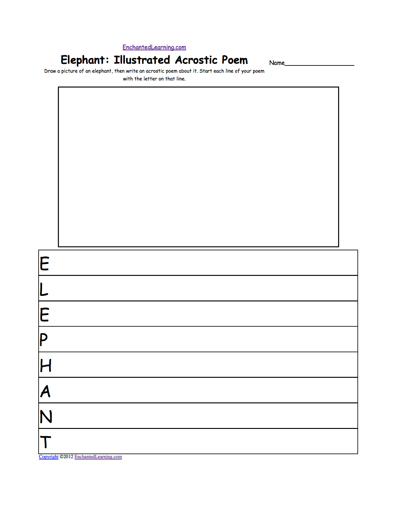 The Elephant Poem Worksheet Answers