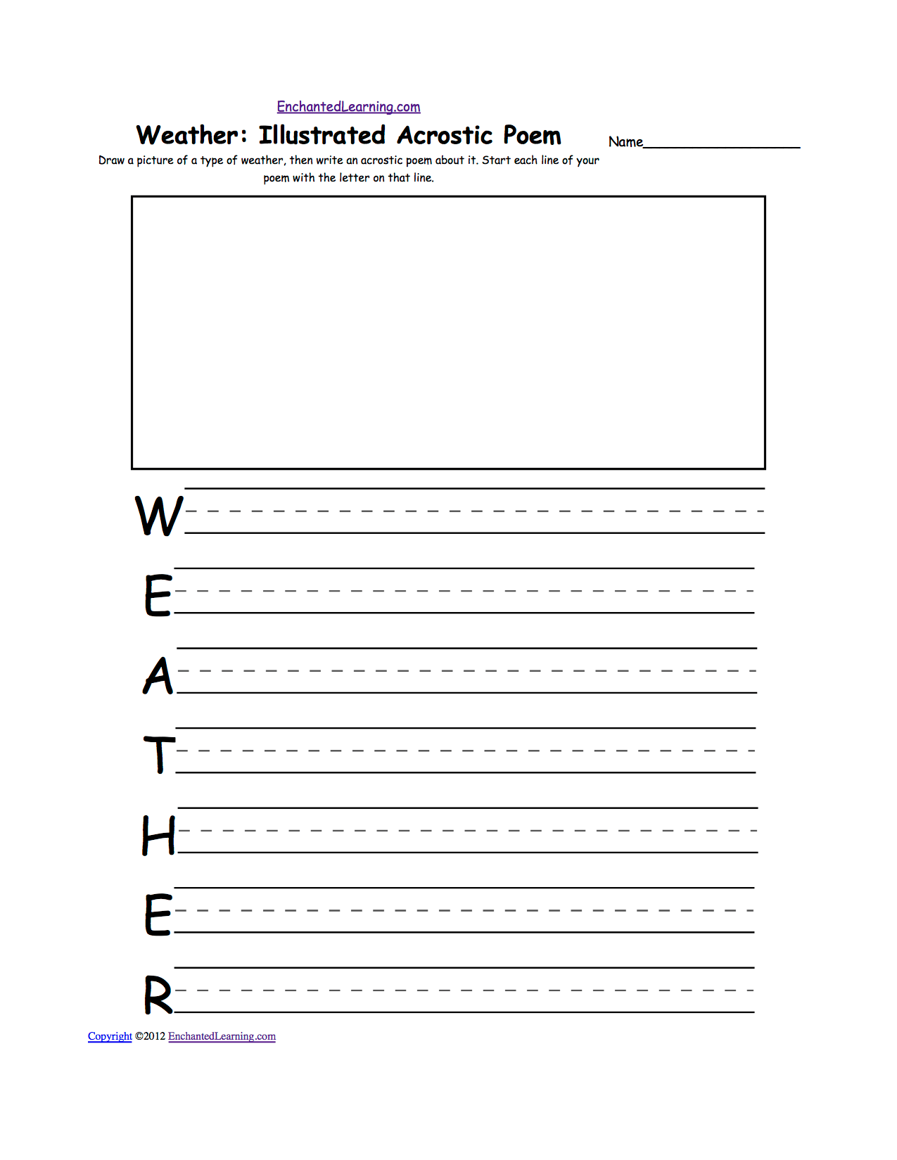 Weather Acrostic Poems Enchantedlearning