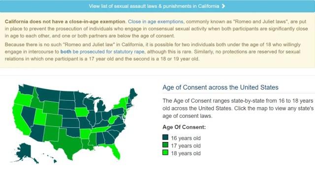 Paul Walker Age Of Consent California Felony