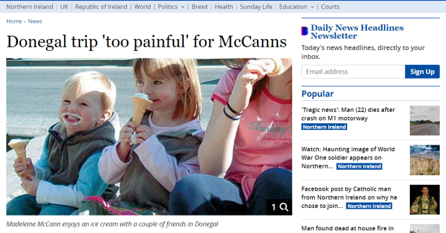 Madeleine McCann Donegal Red Shoes Easter Egg Photo Ireland