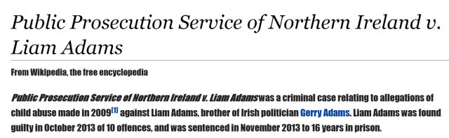 Madeleine Mccann Liam Adams Donegal