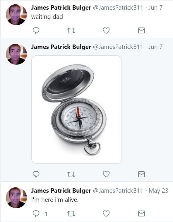James Patrick Bulger profile Tweets about Ralph Bulger