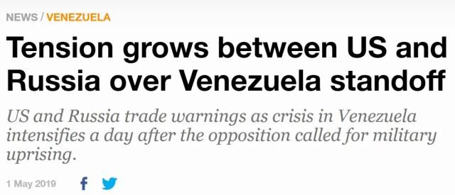 Venezuela, Russia America Standoff