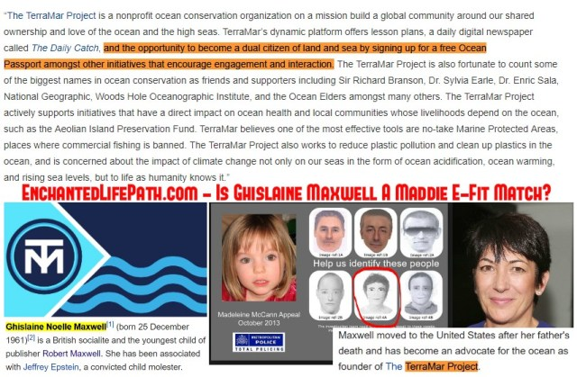 Ghislaine Maxwell Used Submarines To Enter Epstein Island Undetected From Below? - Enchanted LifePath Reports. TerraMar Project Issues Passports