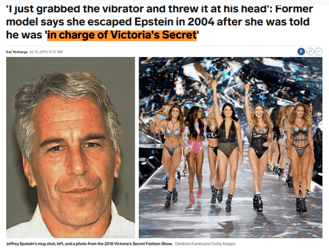 Jeffrey Epstein Victoria's Secret Connection - Cremation Diamonds Enchanted LifePath