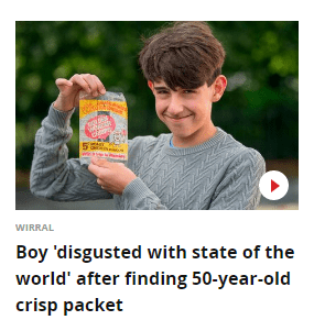 50 Year-old Crisp Packet
