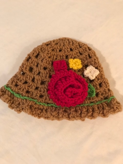 Brown Tulip Hat