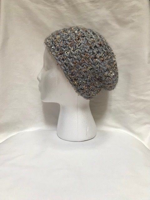 Silver Chunky Slouch Hat
