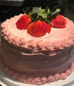Rose Strawberry Chocolate Cake