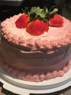 Tequila Rose Strawberry Cake