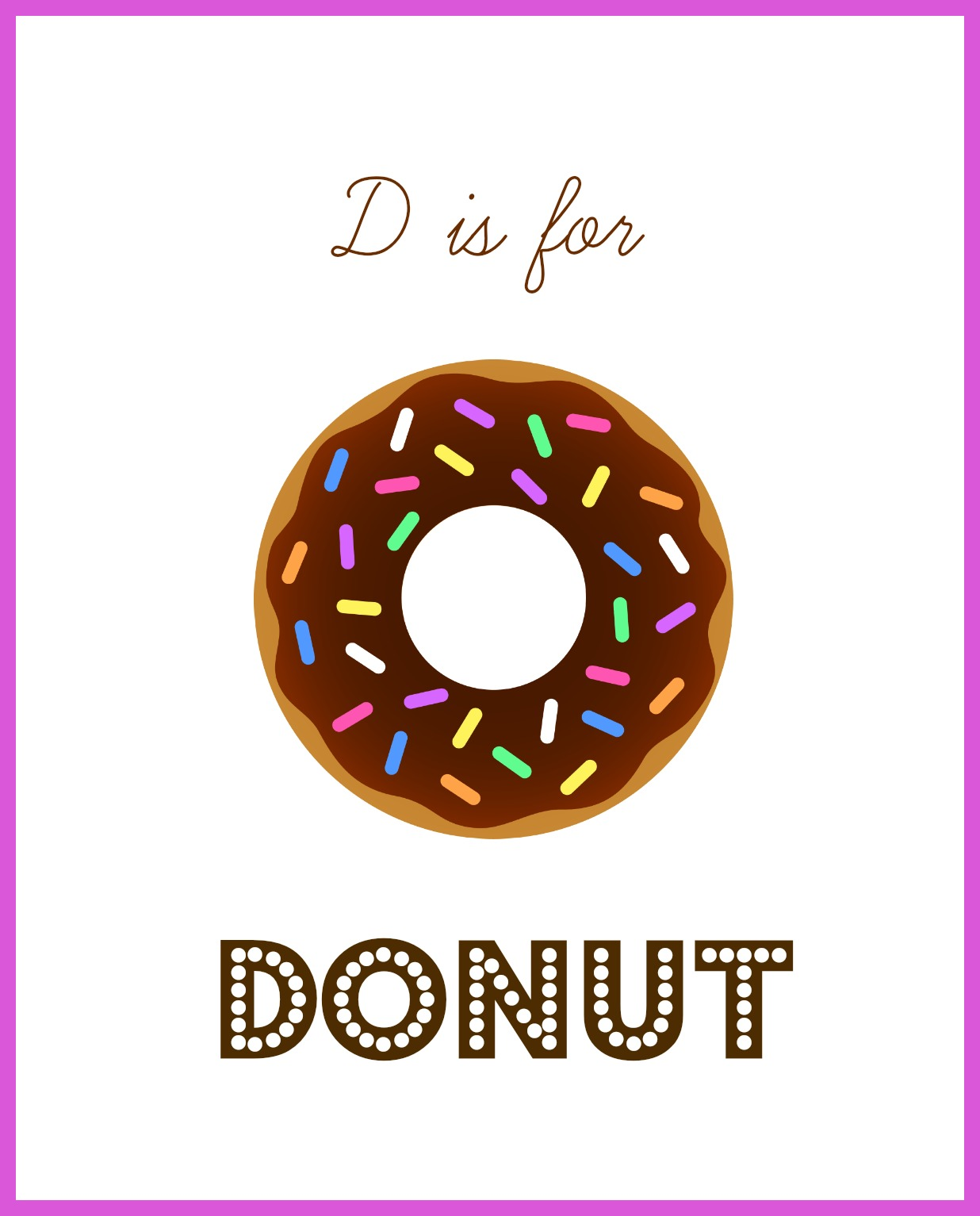 Letter D For Donuts Enchantedyankee