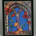 Window Flowers Wall Hanging