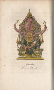 489. PANNELIER. L'Hindoustan. 1816. Ganesh