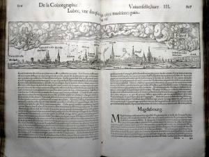 145. MÜNSTER. La cosmographie universelle. [Bâle, Henry Pierre, 1556]. Lübeck
