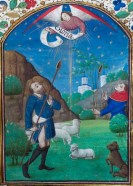 325. Livre d'heures manuscrit sur vélin, 14 enluminures. Le Couronnement de la Vierge.