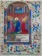 325. Livre d'heures manuscrit sur vélin, 14 enluminures. La Pentecôte.