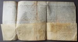 105. [TROYES].- LOUIS XIII. Pièce manuscrite signée Louis (secrétaire). Paris, 27 mars 1626.