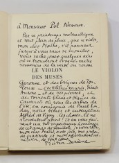 447. DERÈME. Le Violon des muses. Paris, Grasset, 1935.