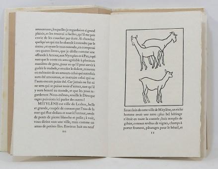 505. LONGUS. Les Pastorales de Longus ou Daphnis et Chloé. [Paris, Philippe Gonin], 1937.