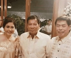 Photo of alleged drug lord Peter Lim and President Rodrigo Duterte As Principals Sponsors in a wedding
