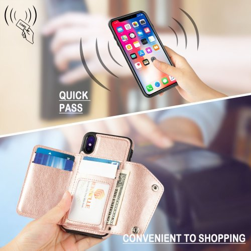 For iPhone X ,iPhone 10 Wallet Case, WenBelle Leather Case (4)