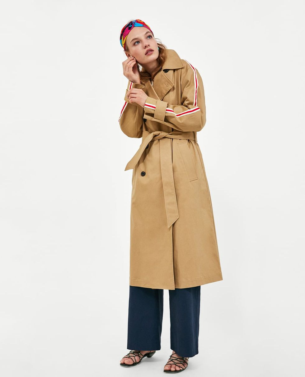 THE ZARA TRENCH ON SALE - Long qb, with street insert and belt at the waist.