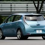 Imagen trasera del Nissan Leaf