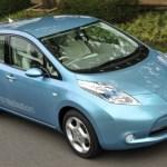 Imagen superior-frontal del Nissan Leaf