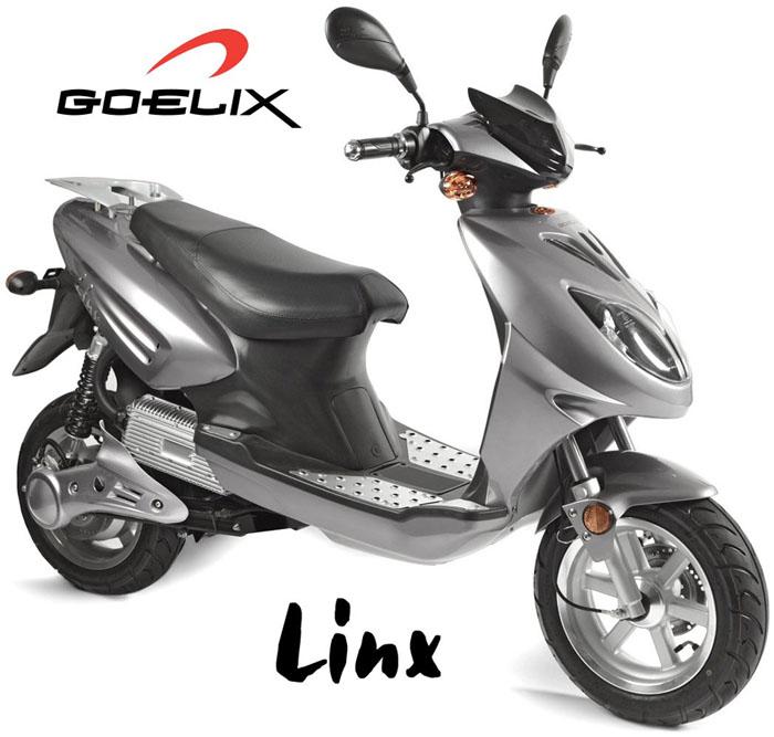 Imagen de la Goelix Linx, color plata, sobre fondo blanco