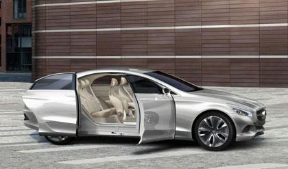 Imagen recreación del Mercedes F 800 Style estacionado