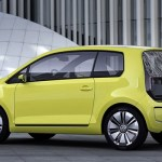 Imagen lateral del prototipo de Volkswagen eléctrico, el E-Up!