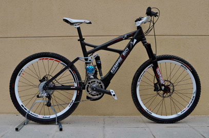 imagen lateral de la Mountain Wolf, bicicleta eléctrica
