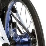 detalle de la correa de la bicicleta eléctrica de Lexus
