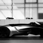 imagen en blanco y negro del Peugeot EX1