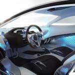 interior del prototipo Jaguar C-X75