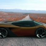 render del Lamborghini Minotauro en una pista de tierra