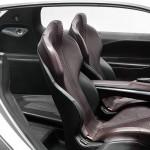 detalle de los asientos del prototipo Peugeot HR1