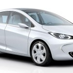 imagen frontal del Renault Zoe