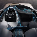 detalle de las luces y paneles de información del BMW Vision Connected Drive