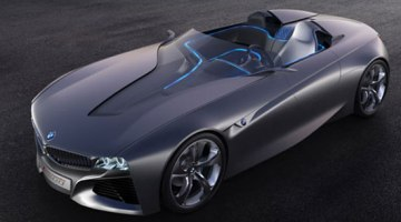 imagen superior-lateral del prototipo BMW Vision ConnectedDrive